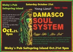Damasco Soul System - October 21st @ Moby's Pub