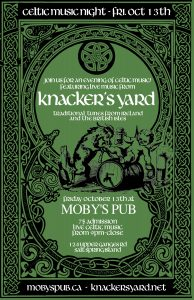 A Celtic Night with Knacker's Yard- October 13th @ Moby's Pub
