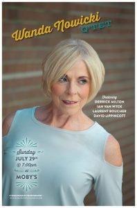 Sunday Night Jazz with Wanda Nowicki Quartet - July 29th @ Moby's Pub