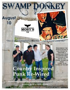 Swamp Donkey - August 10th @ Moby's Pub