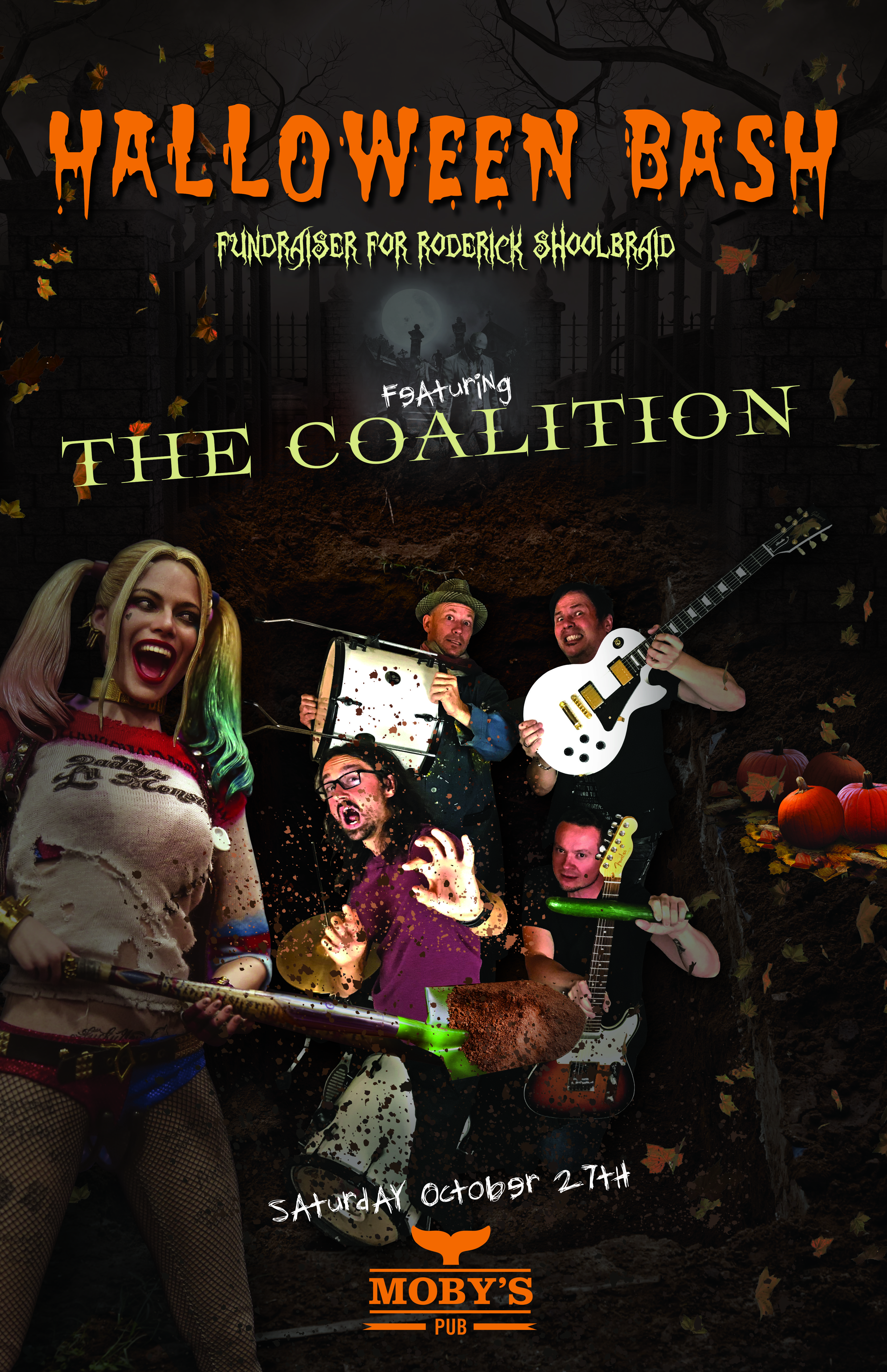 The Coalition Halloween Bash and Fundraiser - October 27th @ Moby's Pub