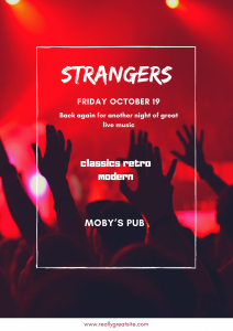 Strangers - October 19th @ Moby's Pub