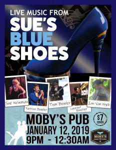 Sue's Blue Shoes - January 12th @ Moby's Pub