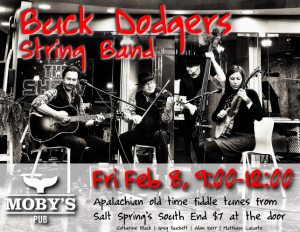 Buck Dodgers String Band - February 8th @ Moby's Pub