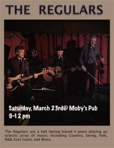 The Regulars - March 23rd @ Moby's Pub