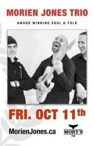 Morien Jones Trio - October 11th @ Moby's Pub