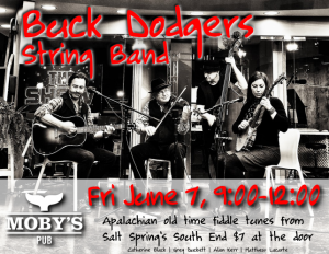 Buck Dodgers String Band - June 7th @ Moby's Pub