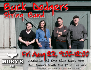 Buck Dodgers String Band - August 23rd @ Moby's Pub